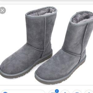 [Ugg] Classic Grey side zipper boots
